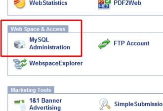 Oneandone MySQL icon