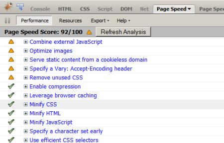 website score after