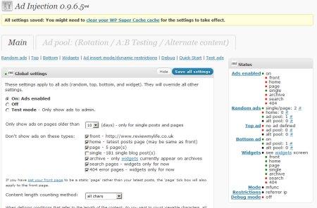 ad injection plugin for wordpress 1 450