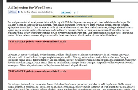 ad injection plugin for wordpress 3 450