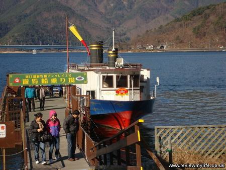 visiting mount fuji japan boat 10