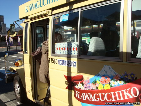 visiting mount fuji japan retro bus 02
