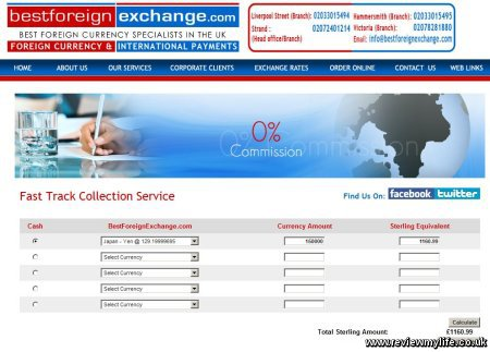 best foreign exchange fast track order