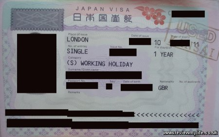 japan visa working holiday