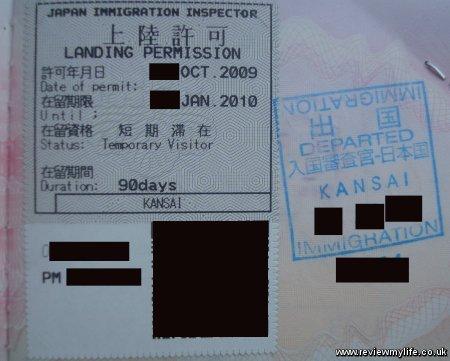 Japan visa faq temporary visitor landing permit japan stopboris Choice Image