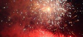 Shibamata summer fireworks in Tokyo