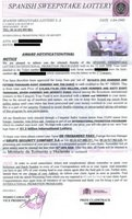 Spanish Lottery Scam Letter